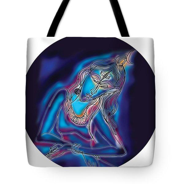 Blue Shiva Light Tote Bag