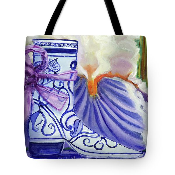 Blue Shoe, Painting Of A Painting Tote Bag
