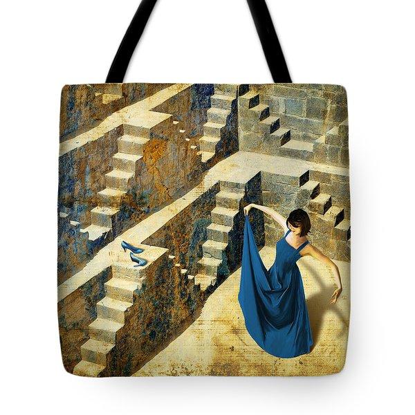 Blue Shoes Tote Bag by Van Renselar