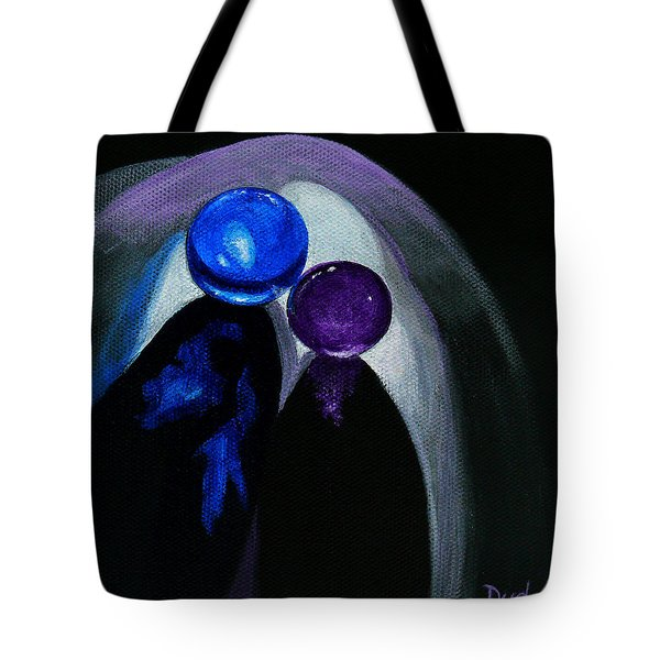 Blue Shooter Amethyst Aggie Tote Bag