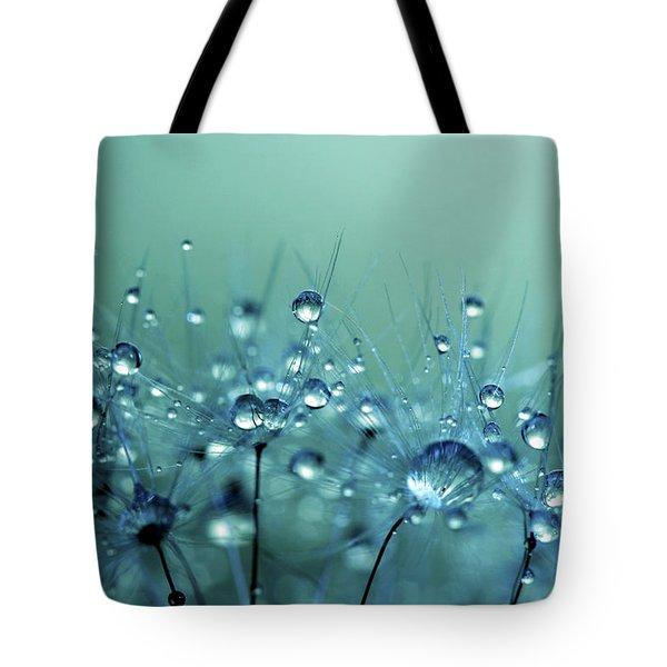 Blue Shower Tote Bag