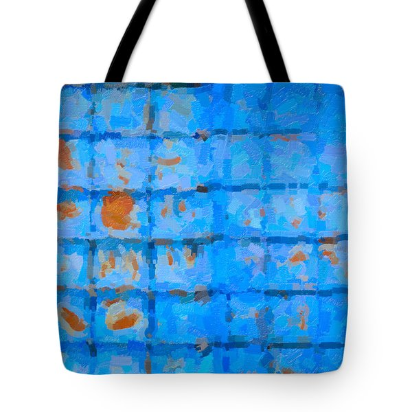 Blue Shutter And Rust Tote Bag