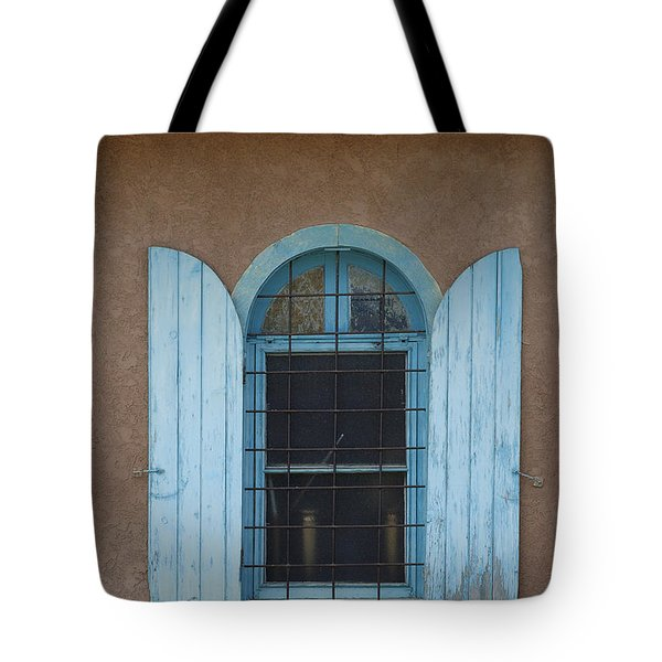 Blue Shutters Tote Bag by Jerry McElroy