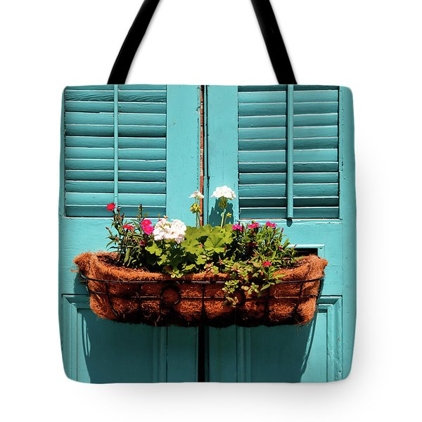 Blue Shutters Tote Bag