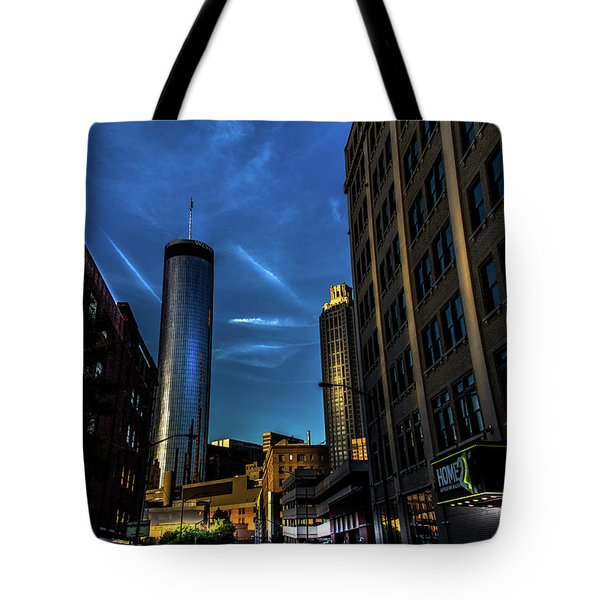 Blue Skies Above Tote Bag