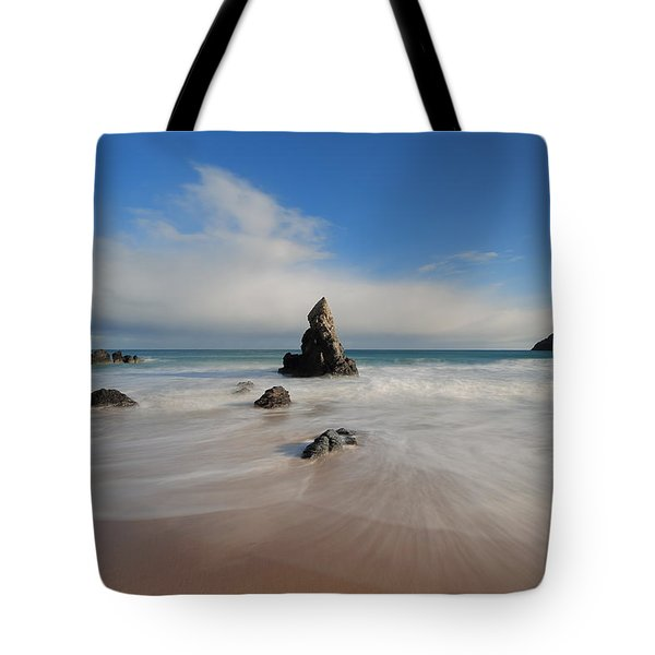 Blue Skies Above Sango Bay Tote Bag