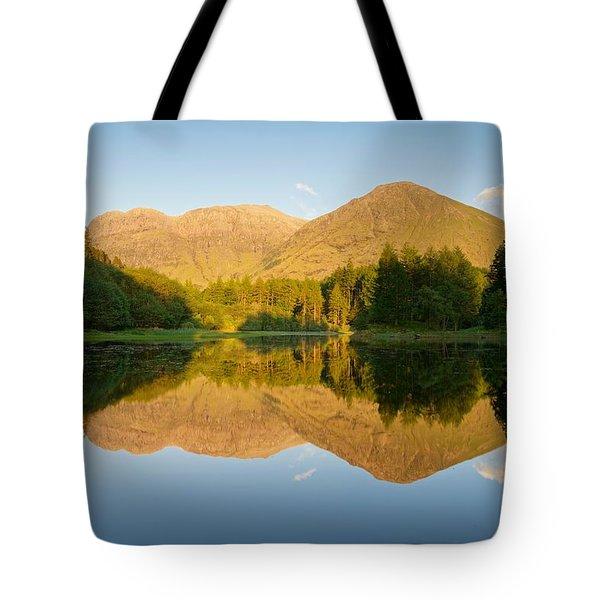 Blue Skies At Torren Lochan Tote Bag