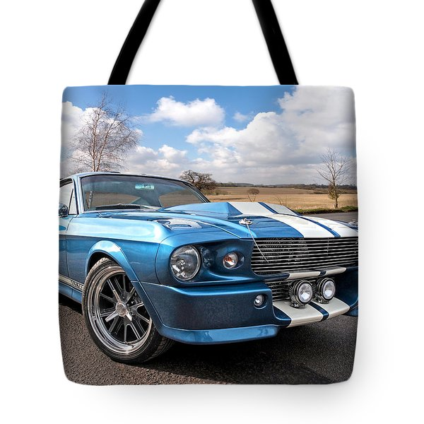 Blue Skies Cruising - 1967 Eleanor Mustang Tote Bag