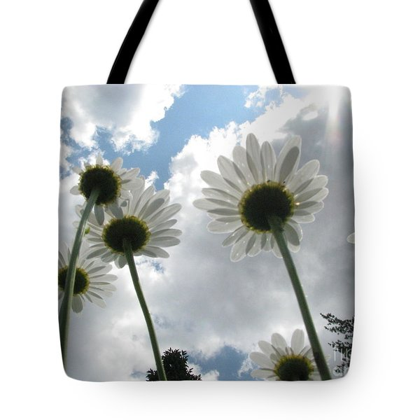 Blue Skies Tote Bag by Misha Bean