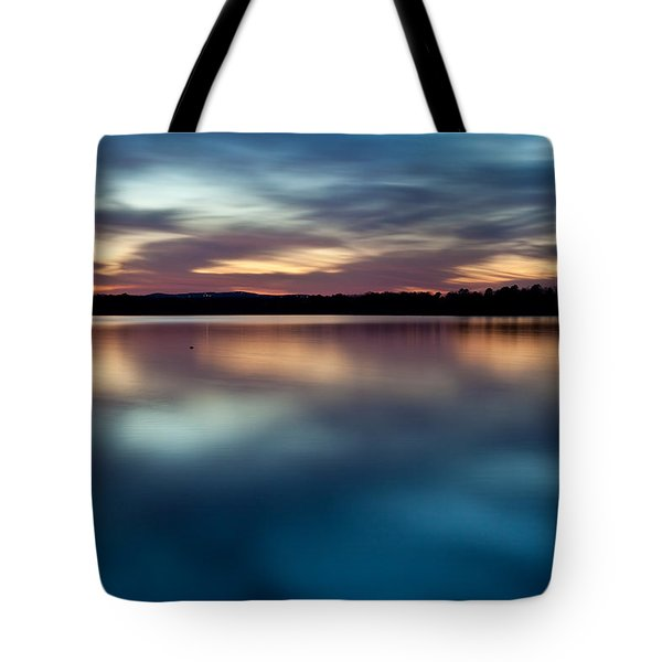 Blue Skies Of Reflection Tote Bag