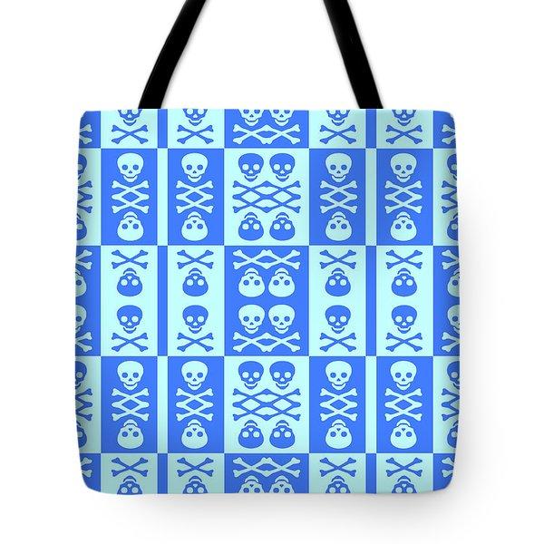 Blue Skull And Crossbones Pattern Tote Bag