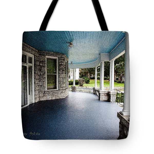 Tote Bag featuring the photograph Blue Sky Above by Randy Sylvia