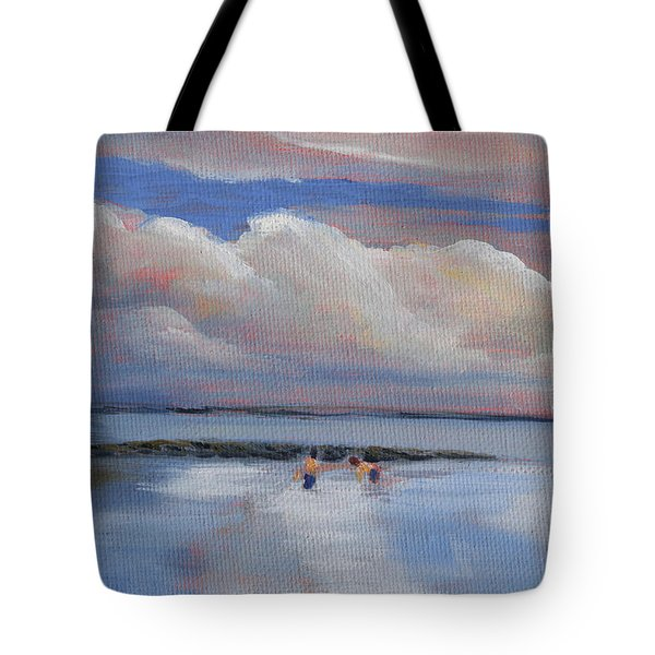Blue Sky And Clouds I Tote Bag