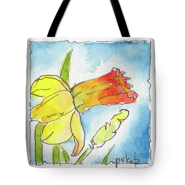 Blue Sky Daffodils Tote Bag