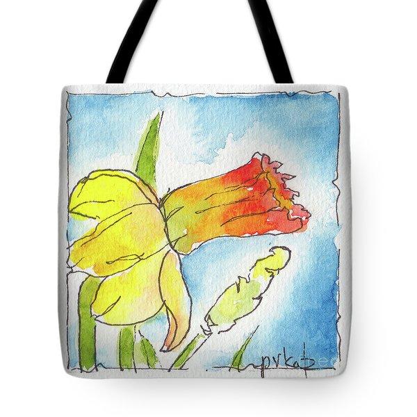 Blue Sky Daffodils Tote Bag