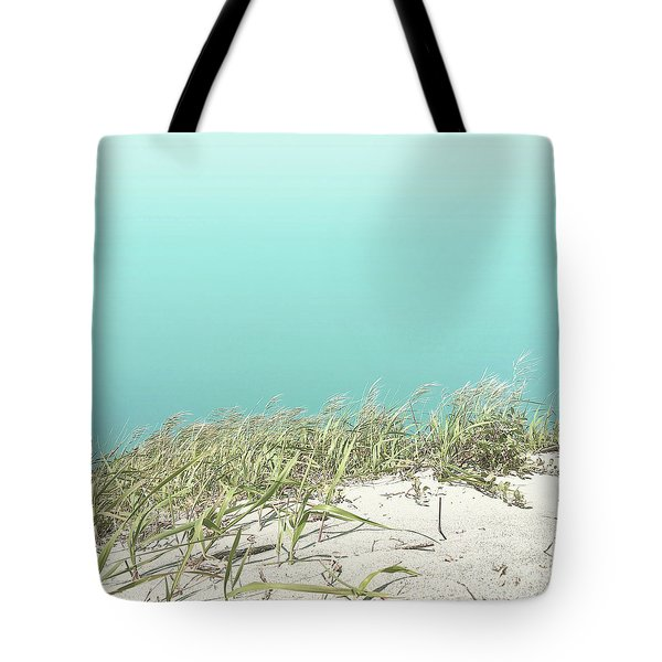 Tote Bag featuring the photograph Blue Sky Over Sea Grass by Cindy Garber Iverson
