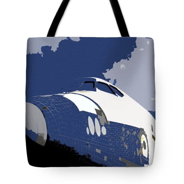 Blue Sky Shuttle Tote Bag by David Lee Thompson
