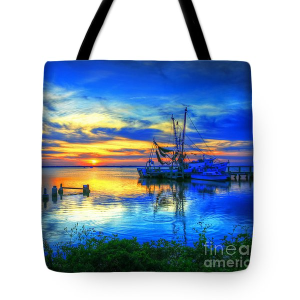 Blue Sky Sunset 2 Tote Bag