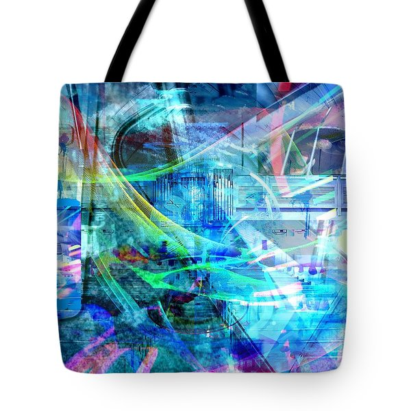 Tote Bag featuring the digital art Blue Smile by Art Di