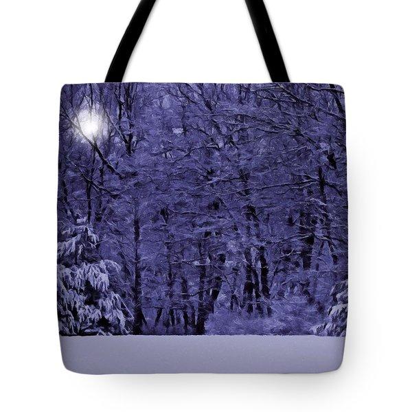 Blue Snow Tote Bag by David Dehner