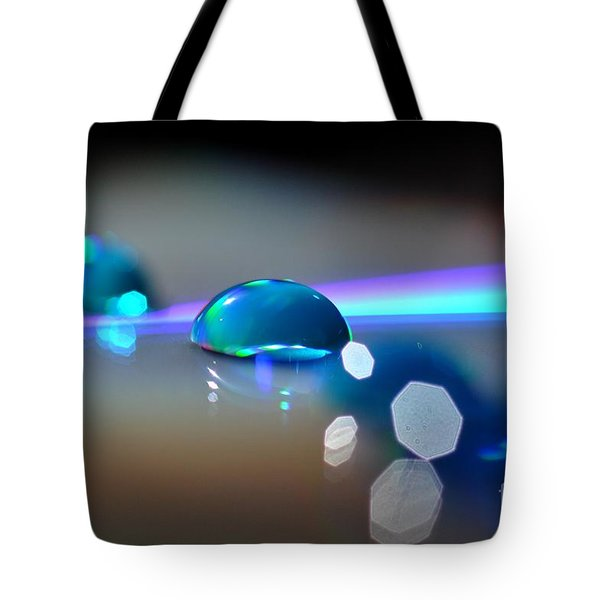 Blue Sparks Tote Bag