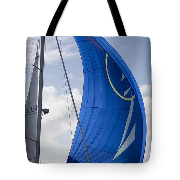 Blue Spinnaker Sy Alexandria Tote Bag