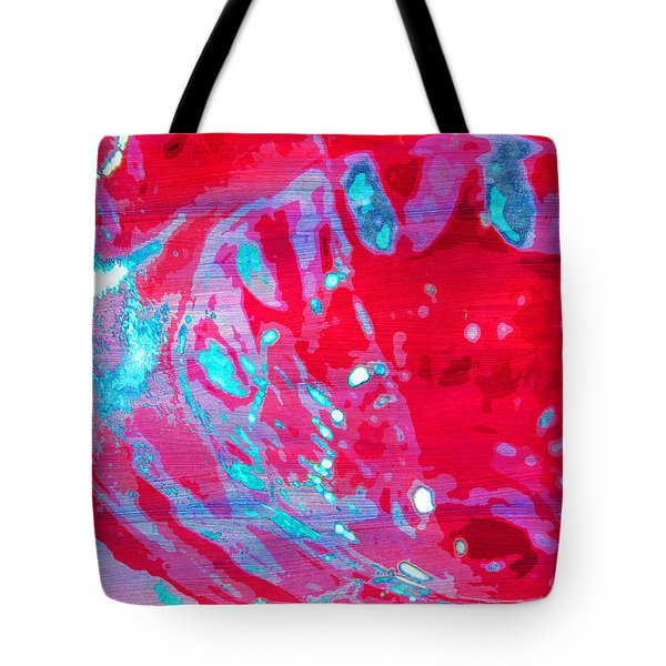 Blue Splash Tote Bag
