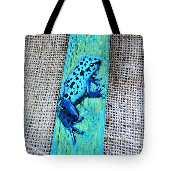 Blue-spotted Tree Frog Tote Bag