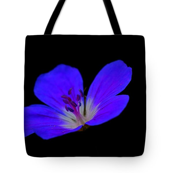 Blue Stamen Tote Bag