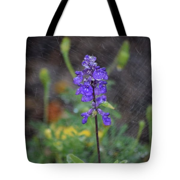 Blue Standing Tote Bag
