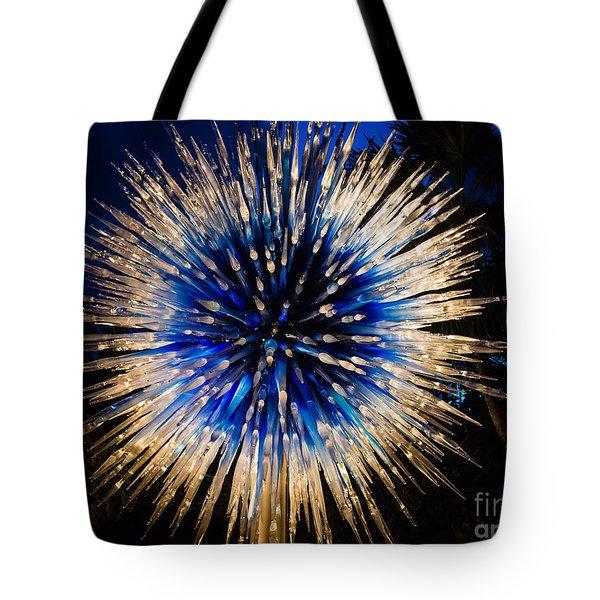Blue Star At Night Tote Bag