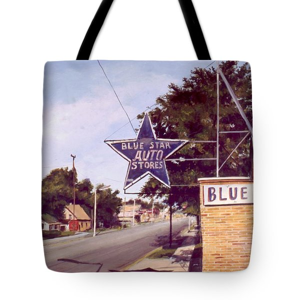 Blue Star Auto Tote Bag
