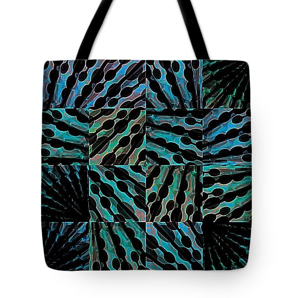 Blue Sticks Tote Bag