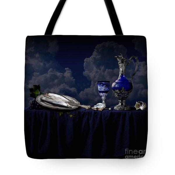 Tote Bag featuring the photograph Blue Still Life by Alexa Szlavics
