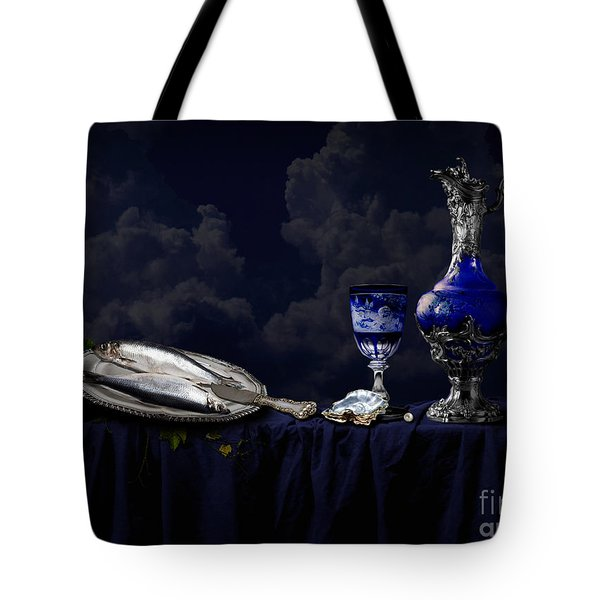 Still Life In Blue Tote Bag