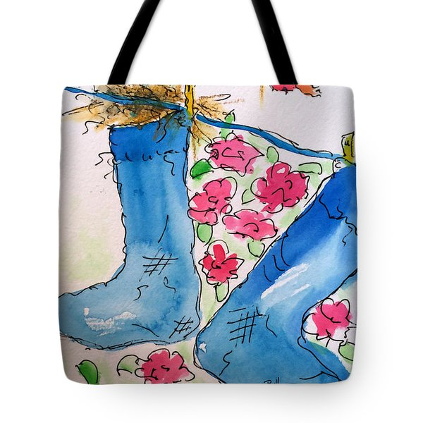 Blue Stockings Tote Bag