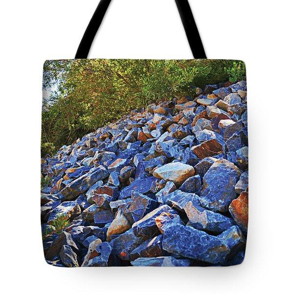 Blue Stone Hill  Tote Bag
