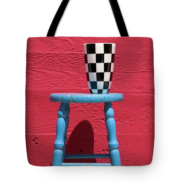 Blue Stool Tote Bag by Garry Gay