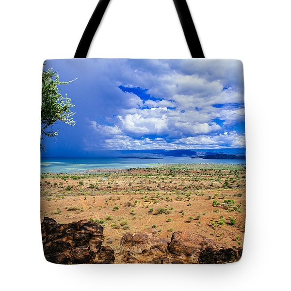 Blue Storm Approaching Tote Bag