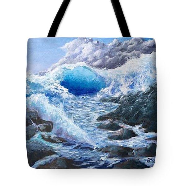 Blue Storm Tote Bag