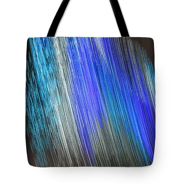 Tote Bag featuring the digital art Blue Streak by Kathleen Illes