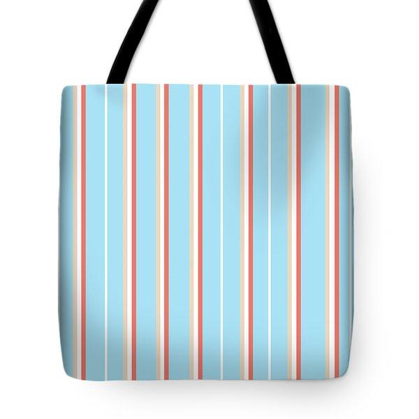 Blue Stripe Pattern Tote Bag