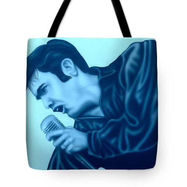 Blue Suede Shoes Tote Bag
