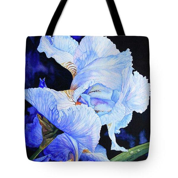 Blue Summer Iris Tote Bag by Hanne Lore Koehler