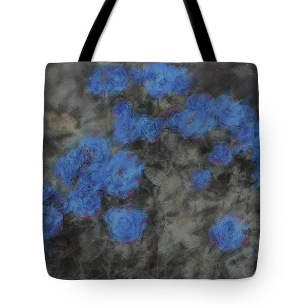 Blue Summer Roses Tote Bag