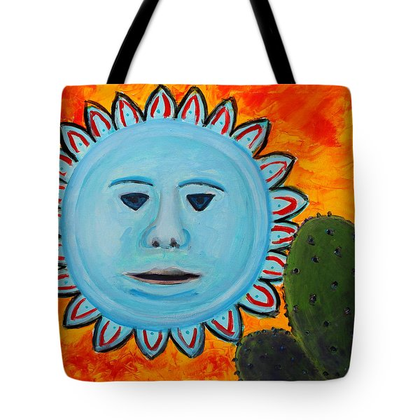 Blue Sun Abstract 3 Tote Bag