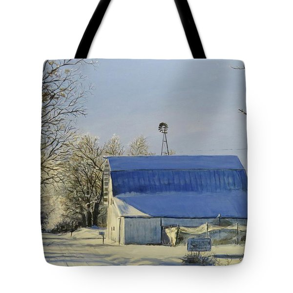 Blue Sunday Tote Bag