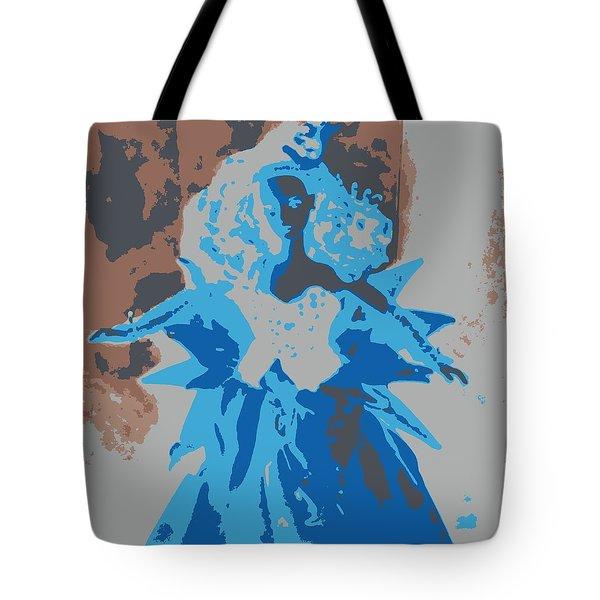 Blue Sunflower Barbie Tote Bag