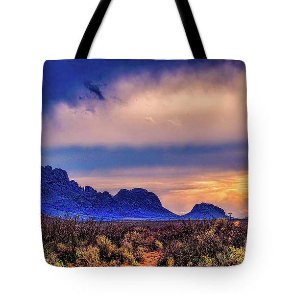 Blue Sunset Nm-az Tote Bag by Diana Mary Sharpton