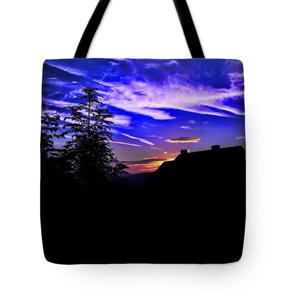 Tote Bag featuring the photograph Blue Sunset In Poland by Mariola Bitner